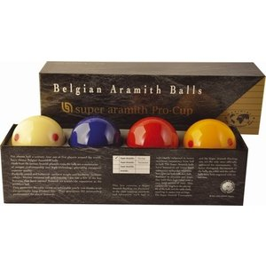 Super Aramith Pro Cup. With extra blue ball