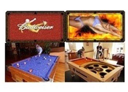 Own design billiard table cloth