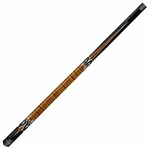 Carom cue Artemis Mister 100 Brown Black / White Decal