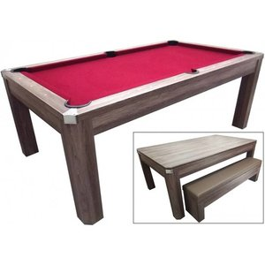 Pooltafel TopTable Dinning, met banken set 6ft/7ft