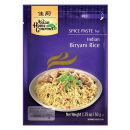 Asian Home Gourmet Spice Paste for Indian Biryani rice 50g