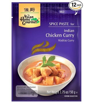 Asian Home Gourmet Spice Paste for Indian Chicken curry 50g