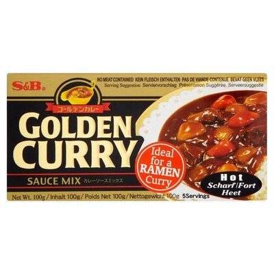 S&B Golden curry sauce mix hot 100 g