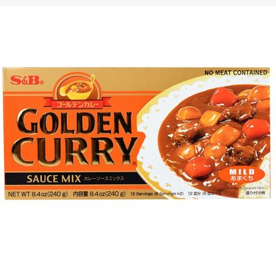 S&B Golden Curry Sauce Mix Mild 240g