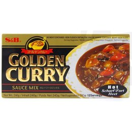 S&B Golden Curry hot 240 gram