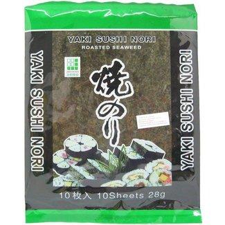 Yaki Sushi Nori Zeewier 10 sheets JHFoods