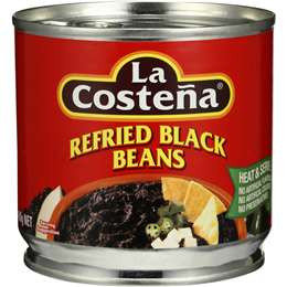 La Costena Refried Black Beans 400g