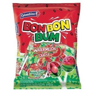 Colombina BonBon Bum Watermelon Lollipop