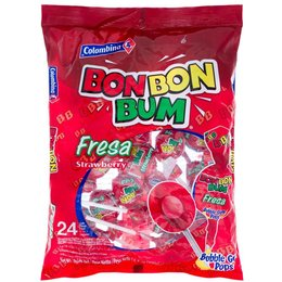 Colombina BonBon Bum Strawberry Lollipop