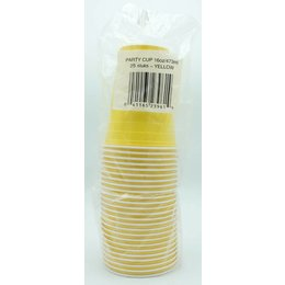Yellow Party cups 25 pcs - 473ml (Plastic)