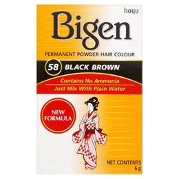 Bigen Hair dye 58 Black Brown