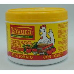 Favora Chicken flavor bouillon with tomato 350g
