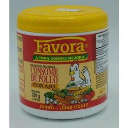 Favora Chicken Flavor Broth with garlic taste 200gr