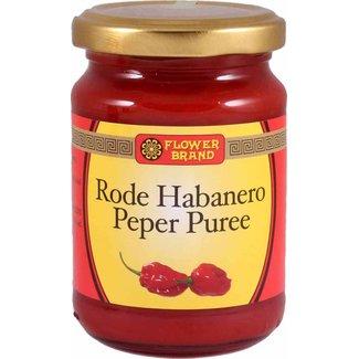 Flower Brand Rode Habanero Peper Puree sambal