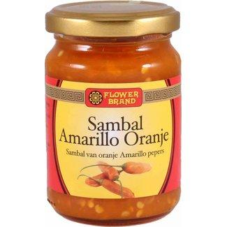 Flower Brand Sambal Amarillo Orange peppers 200 grams