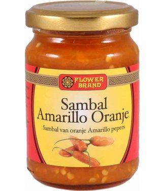 Flower Brand Sambal Amarillo Oranje pepers 200 gram