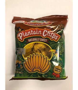Tropical Gourmet Plantain Chips naturally sweet  85g