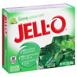 Jell-O Jell-o Lime Gelatin 85g 3 OZ