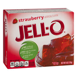 Jell-O Jell-o aardbei  Gelatin 85gr | 3 OZ