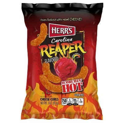 Herrs Carolina Reaper Cheese Curls 184.3gr