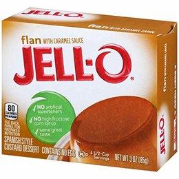 Jell-O Flan with caramel