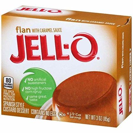 Jell / O Flan with caramel
