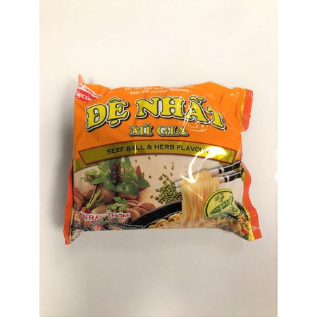 De Nhat - mi gia - beef ball & herb flavour noodlesoup