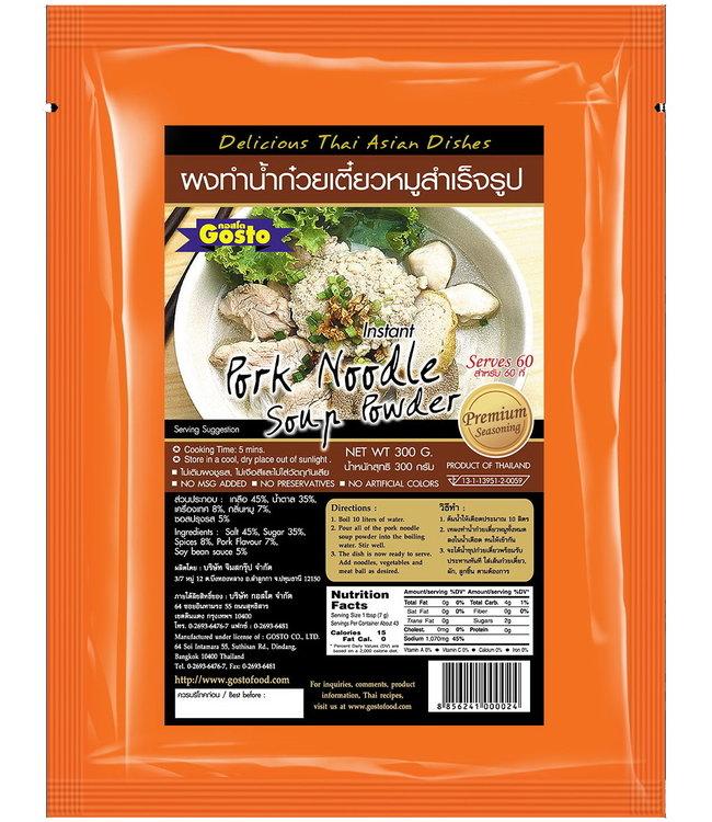 Gosto Instant Pork Noodle Soup Powder 300g