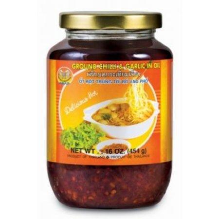 Ground Chilli & Garlic in Oil Double Seashorse 454gr