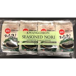 Kwangcheon Korean Seasoned Nori 8pkts x5g (40gr)