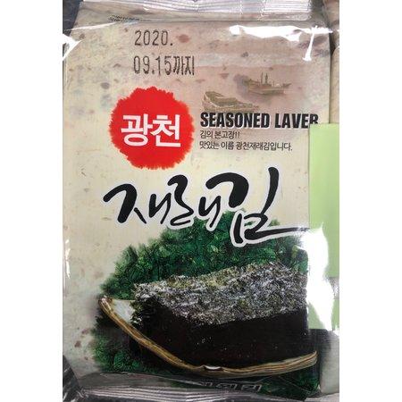 Kwangcheon Korean Seasoned Nori 8pkts x5g (40gr)
