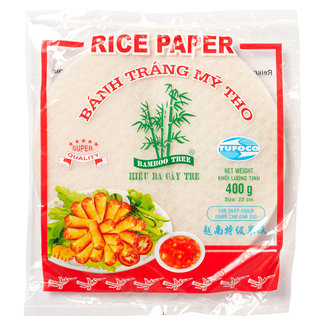 Rice Paper 22 cm round for deep fried Bamboo Tree