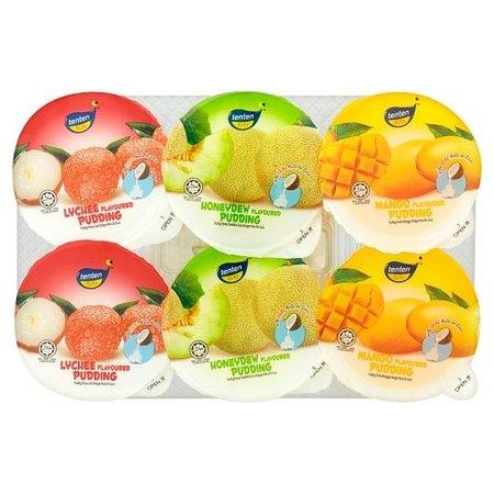 Tenten Mix Pudding with nata de coco 80gr x 6 cups