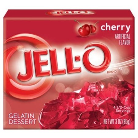 Jell-o Cherry Gelatin 85gr   3 OZ