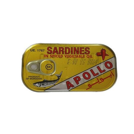 Apollo Sardines in Spiced Vegatable Oil 125gr