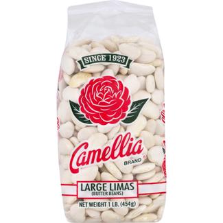 Camellia Large Limas butter beans 454gr  (1lb)