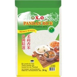 X.O.  Pandan Rijst 20 kg (Thai jasmine rice)