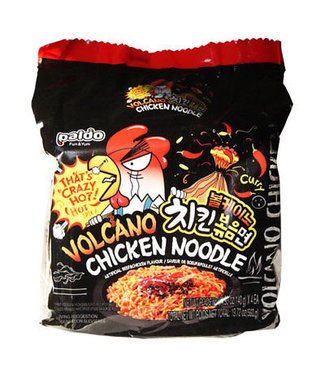 Paldo Paldo Volcano Chicken Korean Noodle 4-pack