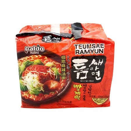 Paldo Paldo Teumsae Ramyun Spicy Noodle 5-pack