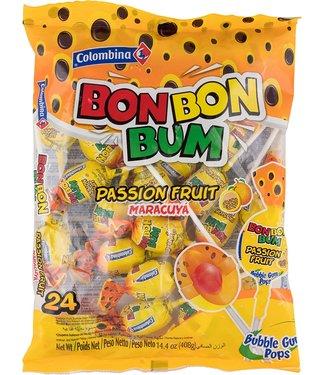 Colombina BonBon Bum Passion Fruit Lollipop 408gr
