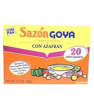 Sazon Goya Con azafran 20pcs (100gr)