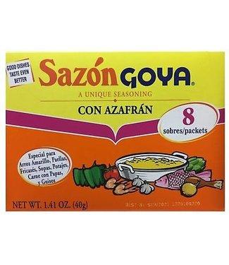 Goya Sazon Goya Con azafran 8 packets (40gr)