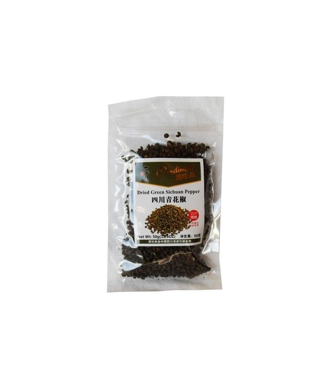 Dried Green Sichuan Peppercorns 50gr