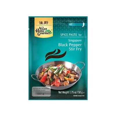 Asian Home Gourmet Spice Paste for Singapore Black Pepper stir fry 50g