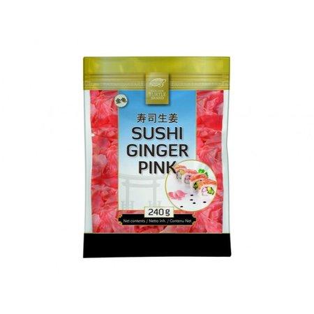 Golden turtle brand Sushi Ginger Pink 240g
