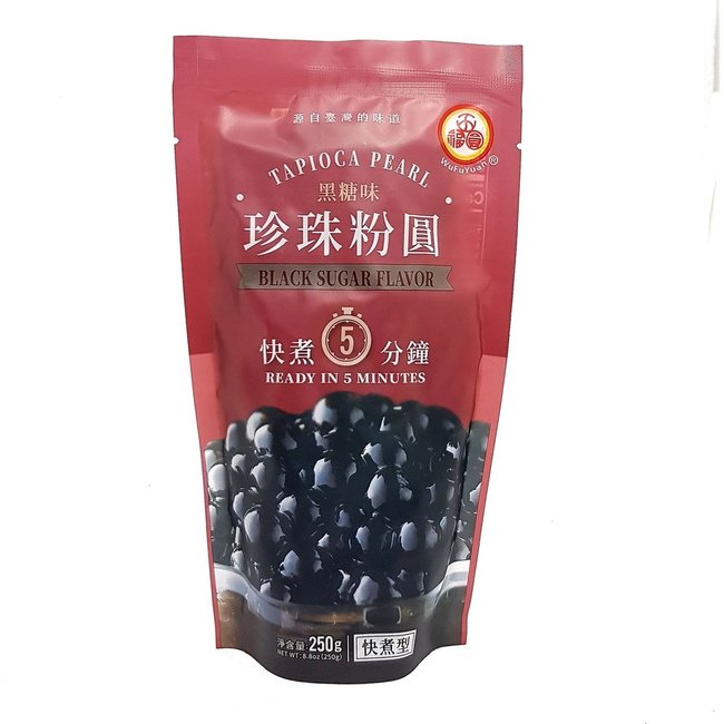 Tapioca Pearl Black Sugar Flavor WuFuYuan 250gr - Best before 15-11-2021