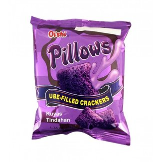 Oishi Pillows Ube Filled Cracker 38gr