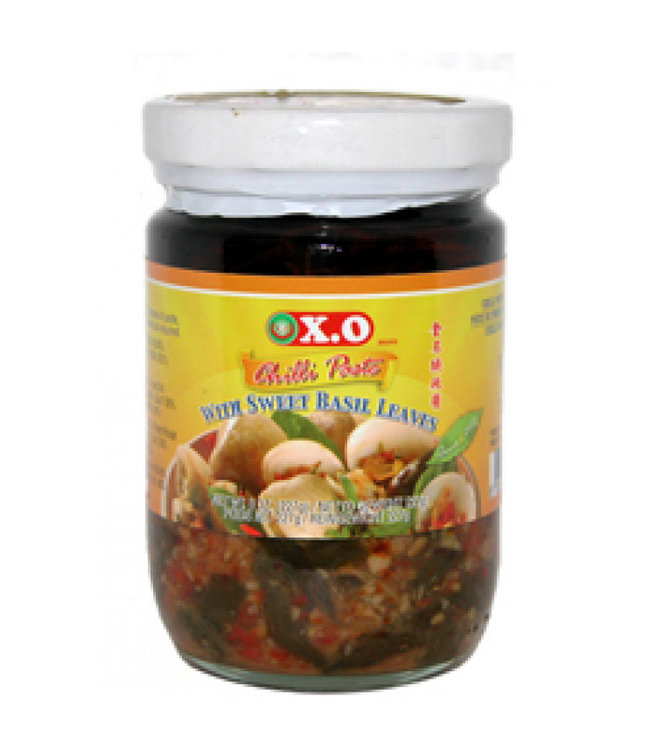 X.O Chilli Paste with Sweet Basil Leaves 200gr
