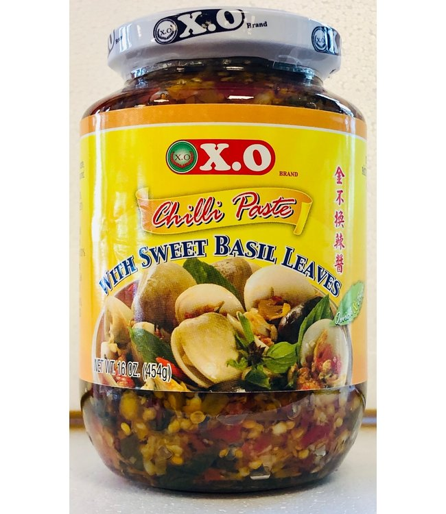 X.O Chilli Paste with Sweet Basil Leaves 454gr