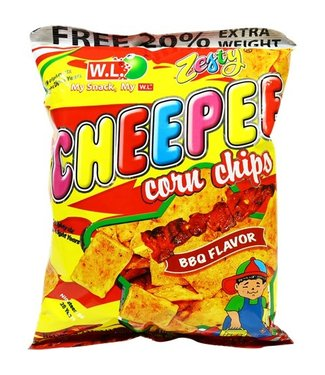 W.L. Foods Barbecue Cheepee Mais chips 120g